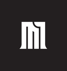 M1 - design element or icon letter m and number 1 vector