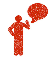 Man idea balloon grunge icon vector