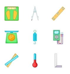 Metering equipment icons set cartoon style vector