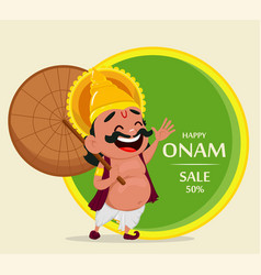 Onam celebration king mahabali vector