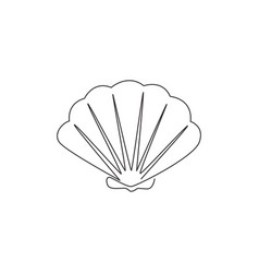 one single line drawing beauty scallop vector image