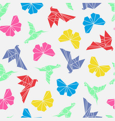 origami birds seamless vector image
