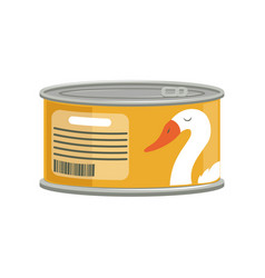 Pate in aluminum can with ring-pull branding vector