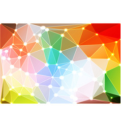 Rainbow colors geometric background with mesh and vector