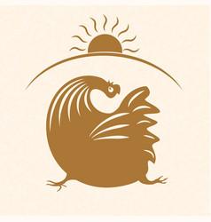 rooster emblem 2 vector image