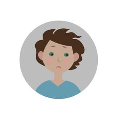 sad emoticon disappointed emoji unhappy smiley vector image