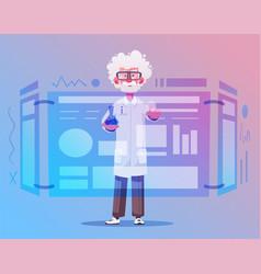 smart scientist character cartoon vector image