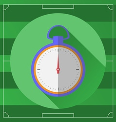 Soccer Stopwatch round icon vector image