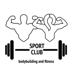 Sport or fitness club emblem vector