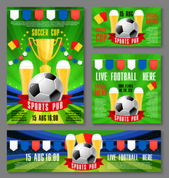 sport pub invitation ticket for football event vector image