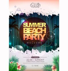 Summer party poster design beach party vector