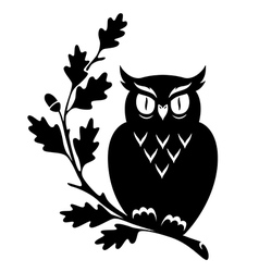 Symbol owl oak vector
