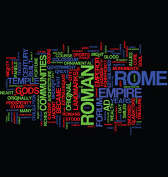 The ancient sites of rome text background word vector