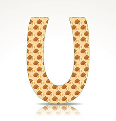 The letter U of the alphabet made of Ugly fruits vector