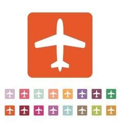 The plane icon Travel symbol Flat vector image