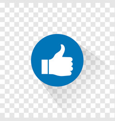 the thumbs up like icon vector image