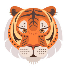 Tiger head logo decorative emblem vector