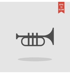 Trumpet icon Flat vector image