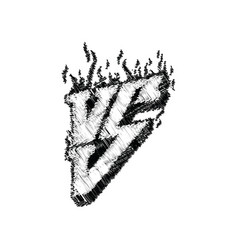 versus logo hand lettering symbol competition vs vector image vector image