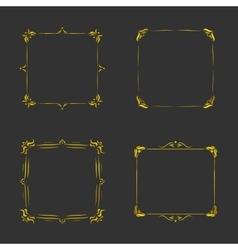 Vintage gold frames vector image