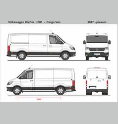 Volkswagen crafter cargo van l2h1 2017-present vector