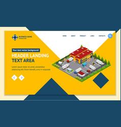 warehouse concept landing web page template 3d vector image