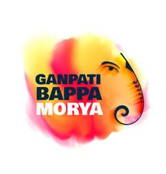 Watercolor lord ganesha design for ganpati vector