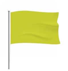 Waving yellow flag tempalte vector