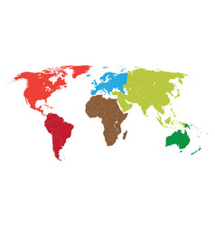 World map with borders all countries vector