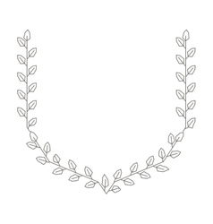 Wreath leafs crown isolated icon vector