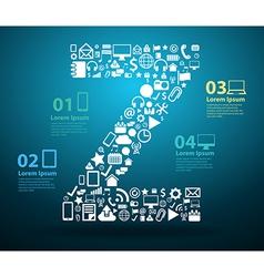 Application icons alphabet letters Z design vector image vector image