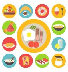Breakfast set vector image