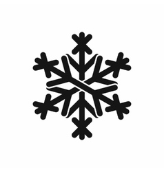 Christmas snowflake icon black simple style vector image vector image