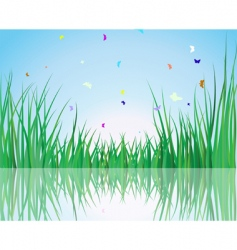 grass on water vector image vector image