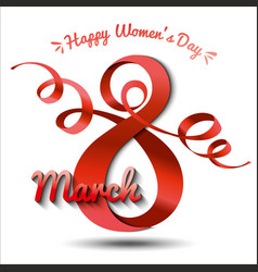 greeting card with 8 march womens day 10 vector image