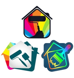 Painting house vector image