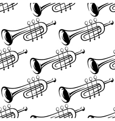 Seamless pattern of trumpets vector image