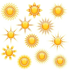 Sun Icons Collection vector image vector image