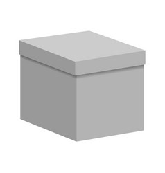 blank paper or cardboard box vector image