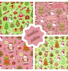 christmas pattern 2 vector image