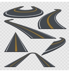 Different Perspective Curved Road Set vector image