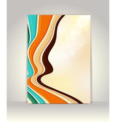 Flyer or brochure template abstract retro design vector image vector image