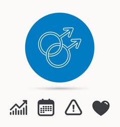 gay couple icon homosexual sign vector image