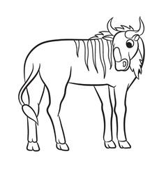 gnu outlined vector image