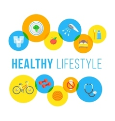 Healthy lifestyle flat concept vector image vector image