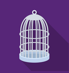 metal cage for birdspet shop single icon in black vector image