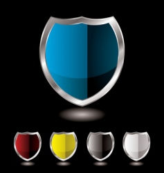 shield five variation vector image
