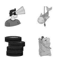technology game and other monochrome icon in vector image vector image