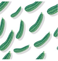 zucchini seamless pattern vector image