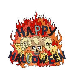 halloween with skulls vector image